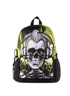 United States Mojo headphones skull long live personality DJ backpack climbing bags All Hail