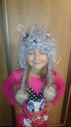 Slucne3 / zajko ciapka,chlpata, crochet, rabbit, hat