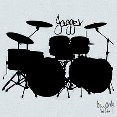 Boy's Custom Name And Drum Set Vinyl Decal- Wall Art, Bedroom, Children's Decor…