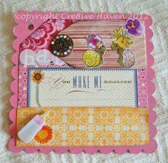 happy snails baby girl mini album page