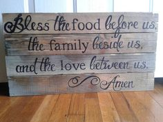 Diy home kitchen decor made from pallets Cute in the kitchen by table.Custom Wooden Sign by HeartShot on Etsy - Could totally make this Do It Yourself Inspiration, Custom Wooden Signs, Do It Yourself Furniture, Before Us, My New Room, Home Design, Design Ideas, Home Projects, Wood Signs