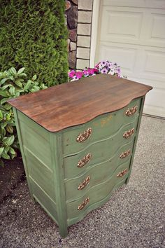 Miss Mustard Seed Boxwood Antique Dresser - Gray Table Home