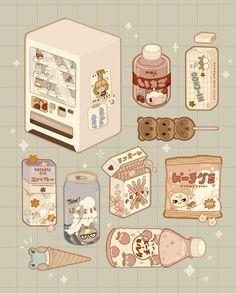 Cute Pastel Wallpaper, Kawaii Wallpaper, Wallpaper Iphone Cute, Aesthetic Drawing, Aesthetic Art, Aesthetic Anime, Cute Food Drawings, Cute Animal Drawings Kawaii, Arte Do Kawaii