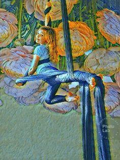 Aerial Silks, Painting, Art, Fabrics, Painting Art, Aerial Yoga, Paintings, Kunst, Paint