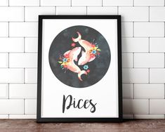 Horoscope Sagittarius, Zodiac Signs Pisces, Astronomy Tattoo, Astrology Signs, Printable Wall Art, Constellations, As You Like, Cute Art, Canvas Frame