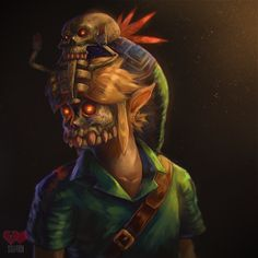 Link with the Captain's Hat from Legend of Zelda Majora's Mask