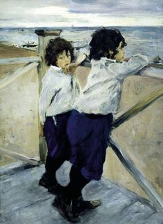 Children - Sash and Yura Serov - 1899- Valentin Serov