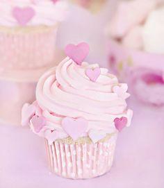 #sprinkle #happy #heart #pink #cupcake
