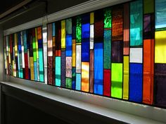 Stained Glass Transom    Custom Order    by stanfordglassshop, $245.00