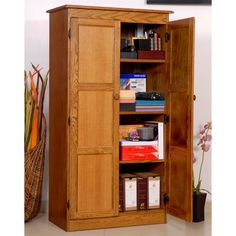 Have to have it. Concepts in Wood Dry Oak KT613A Storage/Utility Closet - $396.24 @hayneedle
