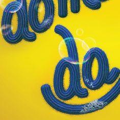 Lettering details  #3d #cgi #c4d #typography #digitalart #artdirection #advertising #publicidade #typespire #bubble #soap #foam #cloth #textil by friedrichsantana