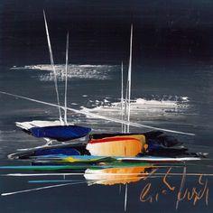 L'oeuvre unique et originale Vol de nuit a été réalisée par l'artiste Eric Munsch, qui réalise des paysages marins aux tonalités très fortes, et très épurés.