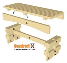 Slatted Garden Bench Plans - Step-By-Step -