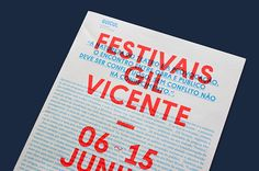 Gil Vicente 2013 Handout on Behance