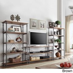 Tribecca Home Myra Vintage Industrial Modern Rustic 40-inch Bookcase (