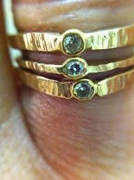 Bildresultat för hammered ring with sunken stone