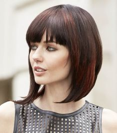 Medium length, combination form (Graduated form, solid form) with fringe [unactivated, concave] Color; Medium Brown with copper highlights Products used; Hairstyles Haircuts, Pretty Hairstyles, Straight Hairstyles, Brown Hairstyles, Concave, Medium Hair Styles, Short Hair Styles, Hair Medium, Medium Brown