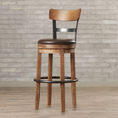 "Found it at AllModern - Lynwood 30.25"" Swivel Bar Stool with Cushion"