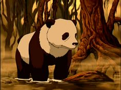 Hei Bai from The Last Airbender, a forest spirit that normally takes the form of a docile panda bear who has protected an Earth Kingdom forest for thousands of years