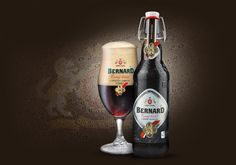 Unpasteurised DARK LAGER with fine yeast culture - Bernard (my favourite Czech beer) Czech Beer, Dark Beer, Beers Of The World, European Countries, Wine And Beer, Beer Brewing, Czech Republic, Craft Beer, Brewery