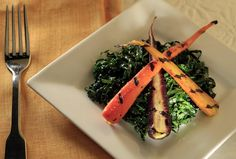 Little Dom's Tuscan kale salad with grilled heirloom carrots