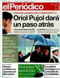 Los Titulares y Portadas de Noticias Destacadas Españolas del 5 de Febrero de 2013 del Diario El Periódico ¿Que le parecio esta Portada de este Diario Español?
