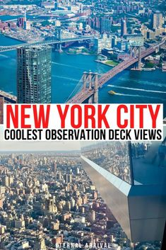 Wondering where to find the best skyline views in New York City? Here are the best NYC observation decks - ranked! best views of New York City | best NYC views | best NYC attractions | best New York City skyline views | best NYC observation towers | best observation decks in New York City | best observation deck views in NYC Usa Travel Guide, Travel Usa, Travel Guides, Travel Tips, Travel Destinations, East Coast Travel, East Coast Road Trip, Road Trip Usa, New York Vacation