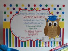 Kids PreschoolKindergarten Graduation Invitations my nail