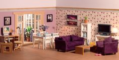 Dolls House Living Rooms - A modern home for a modern gal from dollshouse.com