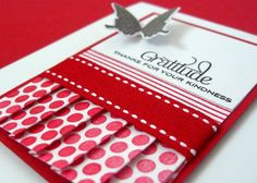 Love The Pleats....  Great Idea For Birthday Cards For My Little Girls Polka Dot Birthday Party....