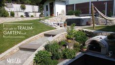 """Garten zum Träumen… Was braucht ein Traumgarten? Gemütliche Plätze, die zum Verweilen und Erholen einladen? Optische Highlights, unterschiedliche Ebenen oder kleine Verstecke? Platz für eigenes Gemüse, Obst und Kräuter? Die Möglichkeit zum Baden oder eine Außenküche? Viel Natur mit Sträuchern und Bäumen? Egal, wie Sie Ihren Garten anlegen – wir haben den """"Grundstein"""" dafür... Highlights, Sidewalk, Mansions, House Styles, Outdoor Decor, Home Decor, Hiding Places, Don't Care, Fruit"""