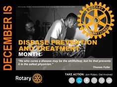Rotary Mini Poster - December - Disease Prevention and Treatment Month by GT