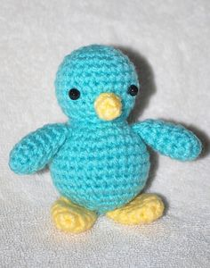 How cute!  A crocheted bird that started out trying to be a bear.  Shows how sometimes we can change directions and come out with something great.