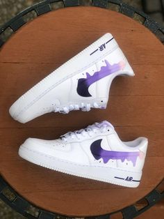 save off 39610 08fc4 Nike Air Force 1  07 Low Custom Purple Drip Brand New Men s Size 9.5