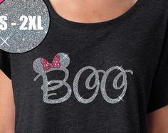 GLITTER Disney Halloween Shirt Minnie Boo Tri by BellaDesignsStl