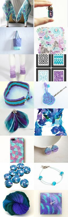 Purple and turquoise by la jèremulie on Etsy--Pinned with TreasuryPin.com #annehermine