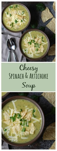 All the flavors of spinach and artichoke dip in soup form. Vegetarian, gluten-free, and only 250 calories a bowl!