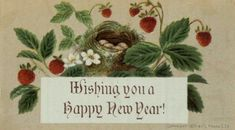 Vintage Style New Years Day CARDS DIE CUTS//Gift Tags 12 Piece Sweet 4 Styles.