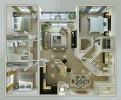 Small Three Bedroom House Plans – 2018 House Plans and Home Design Ideas 3d House Plans, House Layout Plans, Family House Plans, Bedroom House Plans, House Blueprints, Family Houses, 3 Bedroom Home Floor Plans, Castle House Plans, Two Story House Plans
