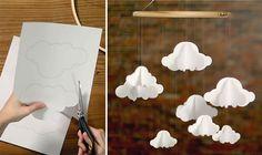 La tête dans les nuages - My Little Kids #DIY #Paper
