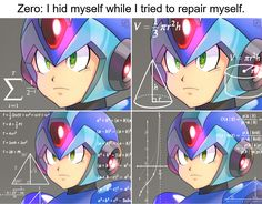 I hid myself while I repaired myself. | Mega Man / Rockman | Know Your Meme