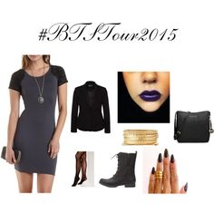 Outfit for the #BetweenTheSheetsTour #BTSTour2015 by meshia-sassyshorty-ester on Polyvore featuring Charlotte Russe, Zalando, Vince Camuto, MICHAEL Michael Kors, KEEP ME, treysongz, chrisbrown and BTSTour