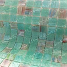 MosaicTiles.com.au - Malibu Green GM 20.35, SM 20 Glass Mosaic Tiles, Mosaic Art, Vtc, Green, Commercial, Beautiful, Home, Ad Home, Homes
