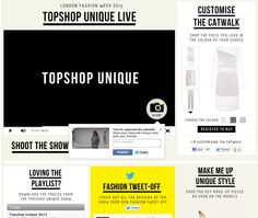 topshop.com #lfw interactive parts