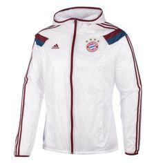 Adidas FC Bayern München Auswärts Trainingsjacke Hymne weiß