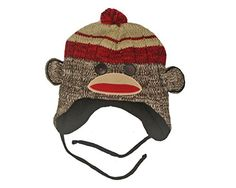 Sock Monkey Head Fleece Lined Brown Knitted Hat with Tassels Explicit http://www.amazon.com/dp/B00QV7M8A6/ref=cm_sw_r_pi_dp_vdbSub084PJSJ