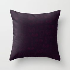 Gamers' Controllers - Plum Purples Throw Pillow