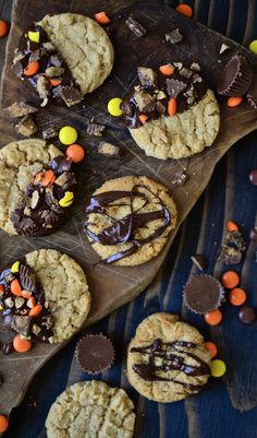 Grandpa's favorite gluten free peanut butter cookies. Gluten Free Cooking, Gluten Free Recipes, Gluten Free Peanut Butter Cookies, Chocolate Cookies, Sweet Tooth, Sweets, Baking, Desserts, Food
