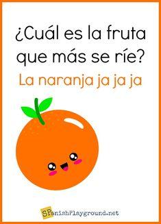 Trendy memes en espanol spanish jokes for kids ideas Funny Spanish Jokes, Spanish Puns, Funny Jokes For Kids, Spanish Vocabulary, Kids Humor, Spanish Posters, Spanish Alphabet, Fun Funny, Memes Humor