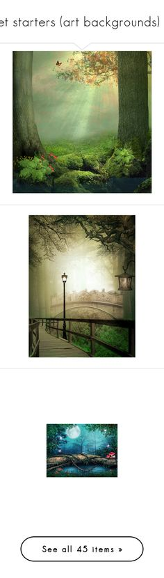 """""""set starters (art backgrounds) 2"""" by pokeasaurousrex ❤ liked on Polyvore featuring backgrounds, landscape, rain, home, home decor, wall art, art, red, images and borders"""
